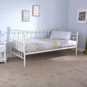 BOXED MEMPHIS DAY BED IN IVORY RRP £119.99 (WILL NEED PALLET DELIVERY OR COLLECTION ONLY)Condition