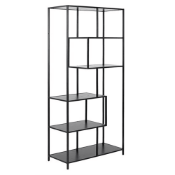 BOXED SCAFFORD BOOKCASE MELAMINE ASH RRP £132(DELIVERY WILL BE £30 OR COLLECTION ONLY)Condition