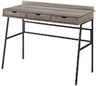 """BOXED 42"""" 3-DRAWER ANGLED FRONT DESK - GREY WASH RRP £228Condition ReportAppraisal Available on"""