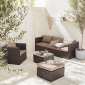 BOXED ORLANDO GARDEN SET IN BROWN RRP £679 (BOX 1,2 &3 OF 3 ALL PRESENT)Condition ReportAppraisal