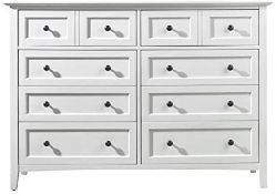 BOXED Modus Furniture 4NA482 Paragon Eight-Drawer Dresser, White RRP £500 (PLEASE NOTE MULTIPLE