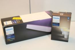 2X ASSORTED PHILIPS HUE PERSONAL WIRELESS LIGHTING ITEMS COMBINED RRP £110.00Condition