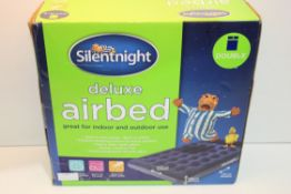 BOXED SILENTNIGHT DELUXE AIRBED DOUBLE Condition ReportAppraisal Available on Request- All Items are
