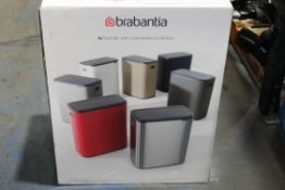 BOXED BRABANTIA BO PEDAL BIN, WITH 2 INNER BUCKETS (2X 30LITRES) RRP £185.00Condition