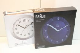 2X BOXED ASSORTED CLOCKS BY BRAUN & ACCTIMCondition ReportAppraisal Available on Request- All