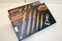 2X BOXED HIGH QUALITY 6PC KNIFE SETS Condition ReportAppraisal Available on Request- All Items are