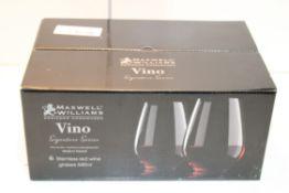 BOXED MAXWELL WILLIAMS VINO SIGNATURE SERIES STEMLESS RED WINE GLASSESCondition ReportAppraisal