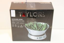 BOXED TAYLORS WEIGHING BOWL DIGITAL DUAL KITCHEN SCALE Condition ReportAppraisal Available on