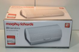 BOXED MORPHY RICHARDS DIMENSIONS ROLL TOP BREAD BIN WHITE Condition ReportAppraisal Available on