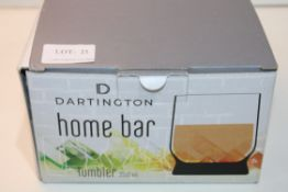 BOXED DARTINGTON HOME BAR TUMBLER 35CLCondition ReportAppraisal Available on Request- All Items