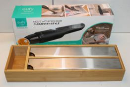 2X ASSORTED ITEMS TO INCLUDE EUFY CORDLESS HANDHELD VACUUM Condition ReportAppraisal Available on