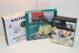 3X ASSORTED BOXED ITEMS TO INCLUDE JOSEPH JOSEPH, SALTER & OTHER Condition ReportAppraisal Available