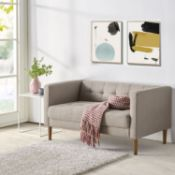 BOXED ZINUS PASCAL LOVESEAT/OATMEAL RRP £269.99Condition ReportAppraisal Available on Request- All