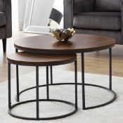 BOXED BELLINI ROUND NESTING COFFEE TABLE RRP £199.99Condition ReportAppraisal Available on