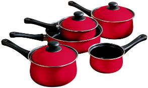 BOXED PREMIER HOUSEARES NON STICK CARBON STEEL WITH BAELITE HANDLES RED RRP £32.50Condition
