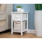 BOXED LORIMIER 1 DRAWER BEDSIDE TABLE RRP £64.99Condition ReportAppraisal Available on Request-