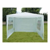 BOXED CHARLES BENTLEY 3X3M GAZEBO WITH 3 SIDE WALLS RRP £55Condition ReportAppraisal Available on