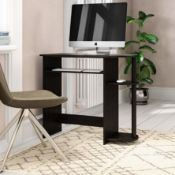 BOXED SIMPLISTIC COMPUTER DESK DARK BROWN/BLACK RRP £54.99Condition ReportAppraisal Available on