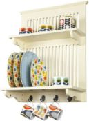BOXED ASTON SHELVING RACK BUTTERMILK RRP £55.99Condition ReportAppraisal Available on Request- All