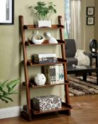 BOXED LADDER BOOKCASE IN NATURAL RRP £77.99 (IMAGE POSSIBLY INCORRECT BUYER BEWARE)Condition