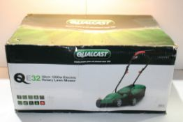 BOXED QUALCAST E32 32CM ROTARY LAWN MOWERCondition ReportAppraisal Available on Request- All Items