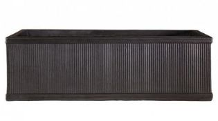 BOXED VINTAGE RIBBED FIBREGLASS PLANT BOX FAUX RRP £59.99Condition ReportAppraisal Available on
