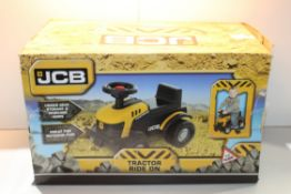 BOXED JCB TRACTOR RIDE ON Condition ReportAppraisal Available on Request- All Items are Unchecked/