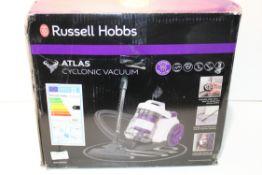 BOXED RUSSELL HOBBS ATLAS CYCLONIC VACUUM MODEL: RHCV30AS11 RRP £40.00Condition ReportAppraisal