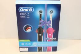 BOXED ORAL B PRO 2 2900 POWERED BY BRAUN TOOTHBRUSH RRP £34.99Condition ReportAppraisal Available on