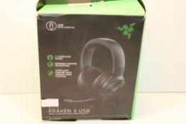 BOXED RAZER KRAKEN X USB DIGITAL SURROUND SOUND GAMING HEADSET RRP £64.99Condition ReportAppraisal