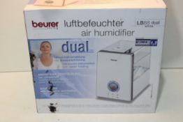 BOXED BEURER DUAL WHITE HUMIDIFIER MODEL: LB88 RRP £96.99Condition ReportAppraisal Available on