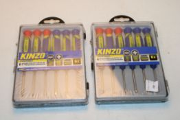 2X BOXED KINZO HANDTOOLS 6PCS PRECISION SCREWDRIVERS SETS Condition ReportAppraisal Available on