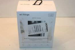 BOXED WITHINGS BPM CORE SMART BLOOD PRESSURE MONITOR WITH ECG & DIGITAL STETHOSCOPE RRP £183.