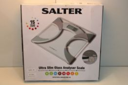 BOXED SALTER ULTRA SLIM GLASS ANALYSER SCALE Condition ReportAppraisal Available on Request- All
