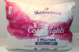 BAGGED SLUMBERDIWN COSYNIGHTS PILLOWS RRP £17 Condition ReportAppraisal Available on Request- All