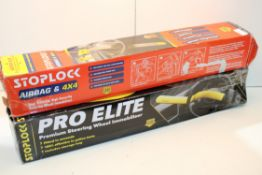 X 2 STEERLING LOCKS BY STOPLOCK & PRO ELITE COMBINED RRP £50 Condition ReportAppraisal Available