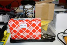 ASSORTED ITEMS TO INCLUDE HAMMERTITE METAL PAINT, BLISTEIN ITEM, FRIT GUARS & OTHER ITEM (PLEASE