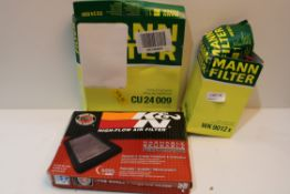 X 3 MANN FILTERS & K&N AIR FILTER Condition ReportAppraisal Available on Request- All Items are