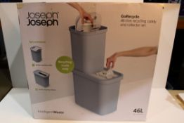 JOSEPH JOSEPH GO RECYCLE 46 LITRE RECYCLING CADDY RRP £45 Condition ReportAppraisal Available on
