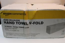 AMAZON COMMERCIAL PURE CELLULOSE HAND TOWEL V-FOLD RRP £22.99Condition ReportAppraisal Available
