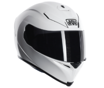 AGV HELMET IN WHITE SIZE M/L RRP £149.99Condition ReportAppraisal Available on Request- All Items