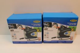 X 2 RING 12V AIR COMPRESSORS COMBINED RRP £32Condition ReportAppraisal Available on Request- All