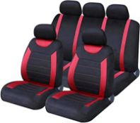 SAKURA CARNABY RED CAR SEAT COVERS RRP £18.99Condition ReportAppraisal Available on Request- All