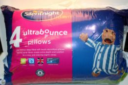 4X BAGGED SILENTNIGHT ULTRABOUNCE PILLOWS Condition ReportAppraisal Available on Request- All