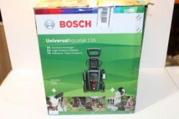 BOXED BOSCH UNIVERSAL AQUATAK 135 HIGH PRESSURE WASHER RRP £179.99Condition ReportAppraisal