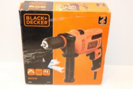 BOXED BLACK + DECKER 500W HAMMER DRILL MODEL: BEH200 RRP £32.00Condition ReportAppraisal Available