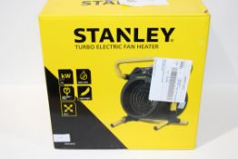 BOXED STANLEY TURBO ELECTRIC FAN HEATER MODEL: ST-52-241-E RRP £118.80Condition ReportAppraisal