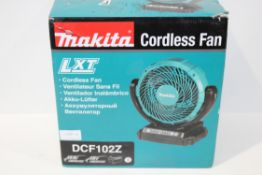 BOXED MAKITA CORDLESS FAN LXT MODEL: DCF102Z RRP £55.00Condition ReportAppraisal Available on