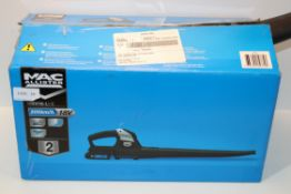 2X BOXED MAC ALLISTER LI-ION BLOWER RRP £59.00 EACH Condition ReportAppraisal Available on