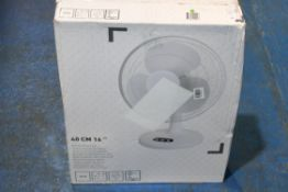 """BOXED B&Q 40CM 16"""" WHITE DESK FAN RRP £29.99Condition ReportAppraisal Available on Request- All"""